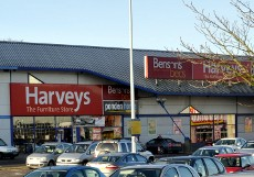 Exterior of Harvey's, County Oak Retail Park