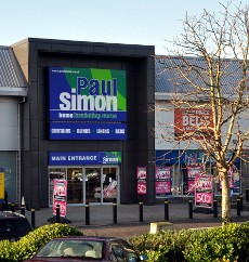 Exterior of Paul Simon, County Oak Retail Park
