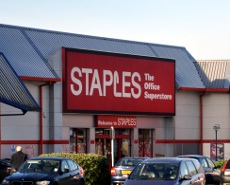 Exterior of Staples, County Oak Retail Park