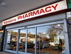 Exterior of Kamsons pharmacy, Pound Hill, Crawley