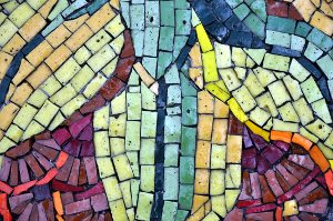 Mosaic part of sculpture