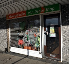 Exterior of Georgielocks Irish Dance Shop, Crawley