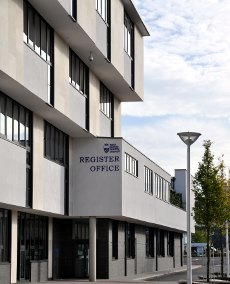 Exterior of Crawley register office