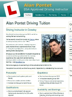 Alan Pontet website home page
