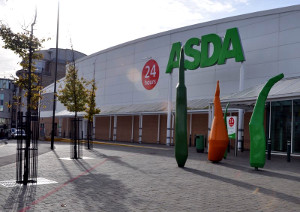 Asda supermarket in Crawley town centre
