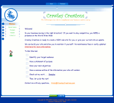 Crawley Creations website home page