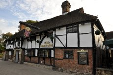 Exterior of Old Punch Bowl pub, Crawley