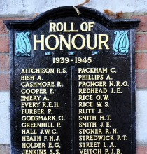 Roll of honour plaque in Crawley memorial gardens