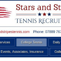 Stars and Stripes Tennis Recruitment website